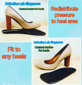 image of orthotic shoe inserts for high heels